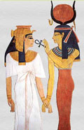 Isis, Nefertari, and Ankh