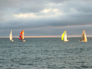 Sailboats on Monterey Bay