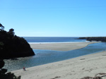 Big River mouth, Mendocino, CA