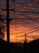Sunset west of El Cerrito, CA