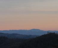 Sundown on the Mayacama Mountains