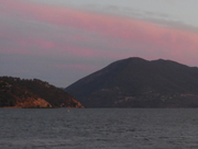 Pink clouds over Konocti