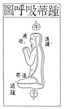 """Illustration, """"Secret of the Golden Flower""""--energy channels"""